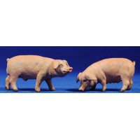 Cerdo 12 cm barro pintado