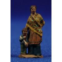 Pastora con niño popular 3 cm pasta cerámica Hermanos Cerrada