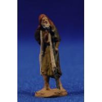 Pastor anciano con muleta 3 cm pasta cerámica Hermanos Cerrada