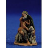 Pastor adorando con cordero 5 cm pasta cerámica Hermanos Cerrada