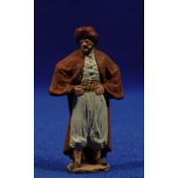 Pastor con manos en la cintura 5 cm pasta cerámica Hermanos Cerrada