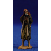 Pastor anciano con muleta 5 cm pasta cerámica Hermanos Cerrada