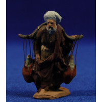 Pastor con cántaros 5 cm pasta cerámica Hermanos Cerrada
