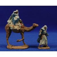 Huida a Egipto 7 cm pasta cerámica Hermanos Cerrada