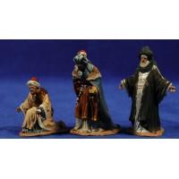 Reyes adorando 7 cm pasta cerámica Hermanos Cerrada