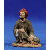 Pastor sentado 7 cm pasta cerámica Hermanos Cerrada