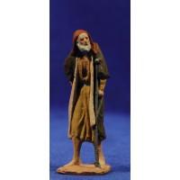Pastor anciano con muleta 7 cm pasta cerámica Hermanos Cerrada