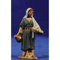 Pastora samaritana 7 cm pasta cerámica Hermanos Cerrada