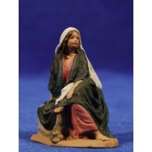 Pastora sentada 7 cm pasta cerámica Hermanos Cerrada