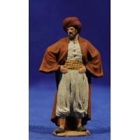 Pastor con manos en la cintura 7 cm pasta cerámica Hermanos Cerrada