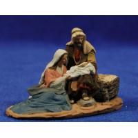 Nacimiento 1 pieza sin animales 16 cm pasta cerámica Hermanos Cerrada