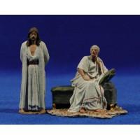 Delante Poncio Pilatos 7 cm pasta cerámica Hermanos Cerrada