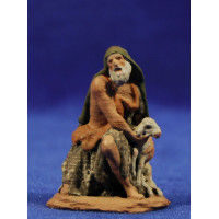 Pastor adorando con cordero 7 cm pasta cerámica Hermanos Cerrada
