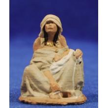 Pastora mendiga 7 cm pasta cerámica Hermanos Cerrada