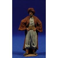 Pastor con manos en la cintura 9 cm pasta cerámica Hermanos Cerrada