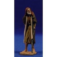 Pastor anciano con muleta 9 cm pasta cerámica Hermanos Cerrada