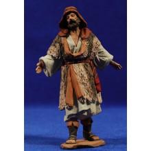 Pastor vestido con lana 12 cm pasta cerámica Hermanos Cerrada