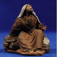 Pastor sentado 12 cm pasta cerámica Hermanos Cerrada