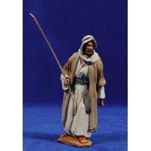 Pastor con bastón 12 cm pasta cerámica Hermanos Cerrada