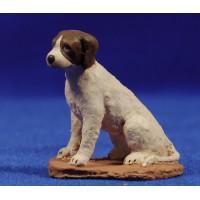 Perro sentado 12 cm pasta cerámica Hermanos Cerrada