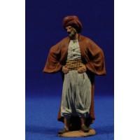 Pastor con manos en la cintura 12 cm pasta cerámica Hermanos Cerrada