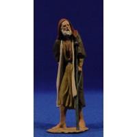 Pastor anciano con muleta 12 cm pasta cerámica Hermanos Cerrada