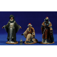 Reyes adorando 12 cm pasta cerámica Hermanos Cerrada