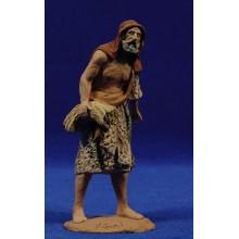 Pastor anciano con lenya 14 cm pasta cerámica Hermanos Cerrada
