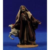 Pastor con carnero 14 cm pasta cerámica Hermanos Cerrada