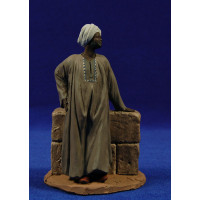 Pastor mercader Etíope 14 cm pasta cerámica Hermanos Cerrada