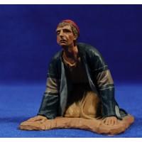 Pastor adorando 16 cm pasta cerámica Hermanos Cerrada