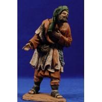 Pastor vestido con lana semi adorando 16 cm pasta cerámica Hermanos Cerrada