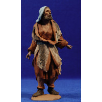 Pastor vestido con lana 16 cm pasta cerámica Hermanos Cerrada
