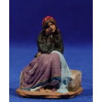 Pastora sentada popular 7 cm pasta cerámica Hermanos Cerrada