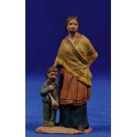 Pastora con niño popular 7 cm pasta cerámica Hermanos Cerrada