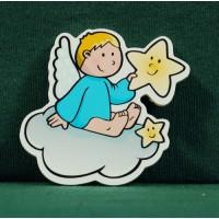 Angel nube iman 5 cm madera La lluna