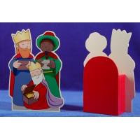 Reyes caja 18 cm madera La lluna