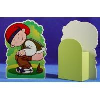 Caganer caja 18 cm madera La lluna