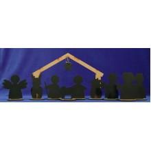 Nacimiento con reyes pizarra 11 cm madera La lluna