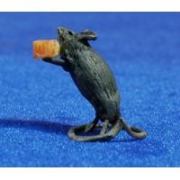 Ratón con queso 20 cm cera