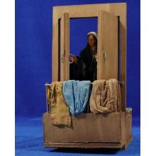 Pastora abriendo puerta movimiento 12 cm ropa y barro