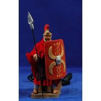 Romano con lanza movimiento 12 cm barro y ropa