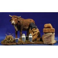 Labrador muñiendo una vaca movimiento 12 cm barro y ropa