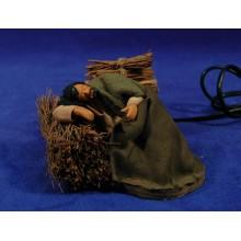 Pastor durmiendo movimiento 12 cm ropa y barro