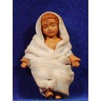Niño Jesús con vestido 12 cm barro pintado