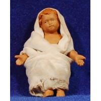 Niño Jesús con vestido 14 cm barro pintado