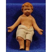 Niño Jesús M2 20 cm barro pintado