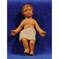 Niño Jesús M2 18 cm barro pintado