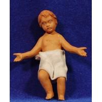 Niño Jesús M2 28 cm barro pintado