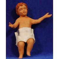 Niño Jesús M2 30 cm barro pintado